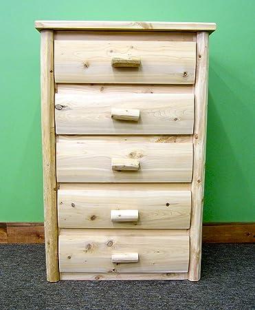 Midwest Log Furniture Premium Log Dresser 5 Drawer