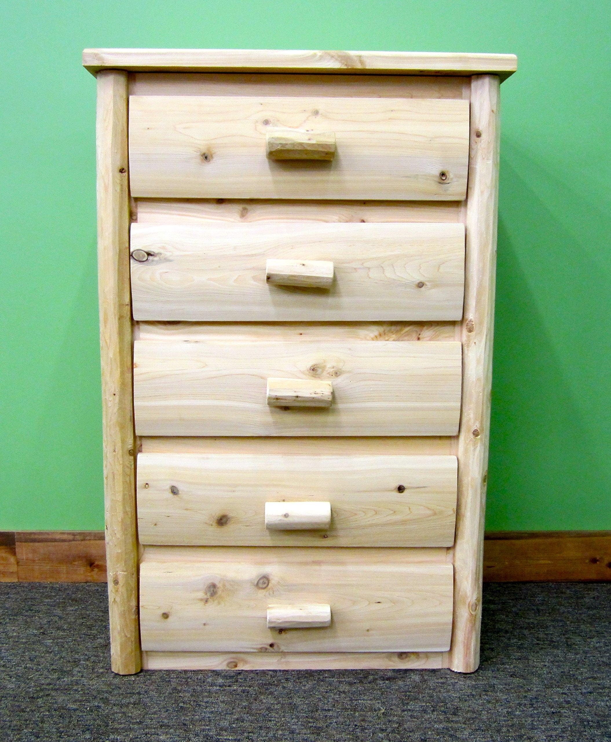 Midwest Log Furniture - Premium Log Dresser - 5 Drawer - Quality, Handcrafted Log Furniture Solid Wood Hardware & EZ Assembly Instructions Included - dressers-bedroom-furniture, bedroom-furniture, bedroom - 91gwv9NCqyL -
