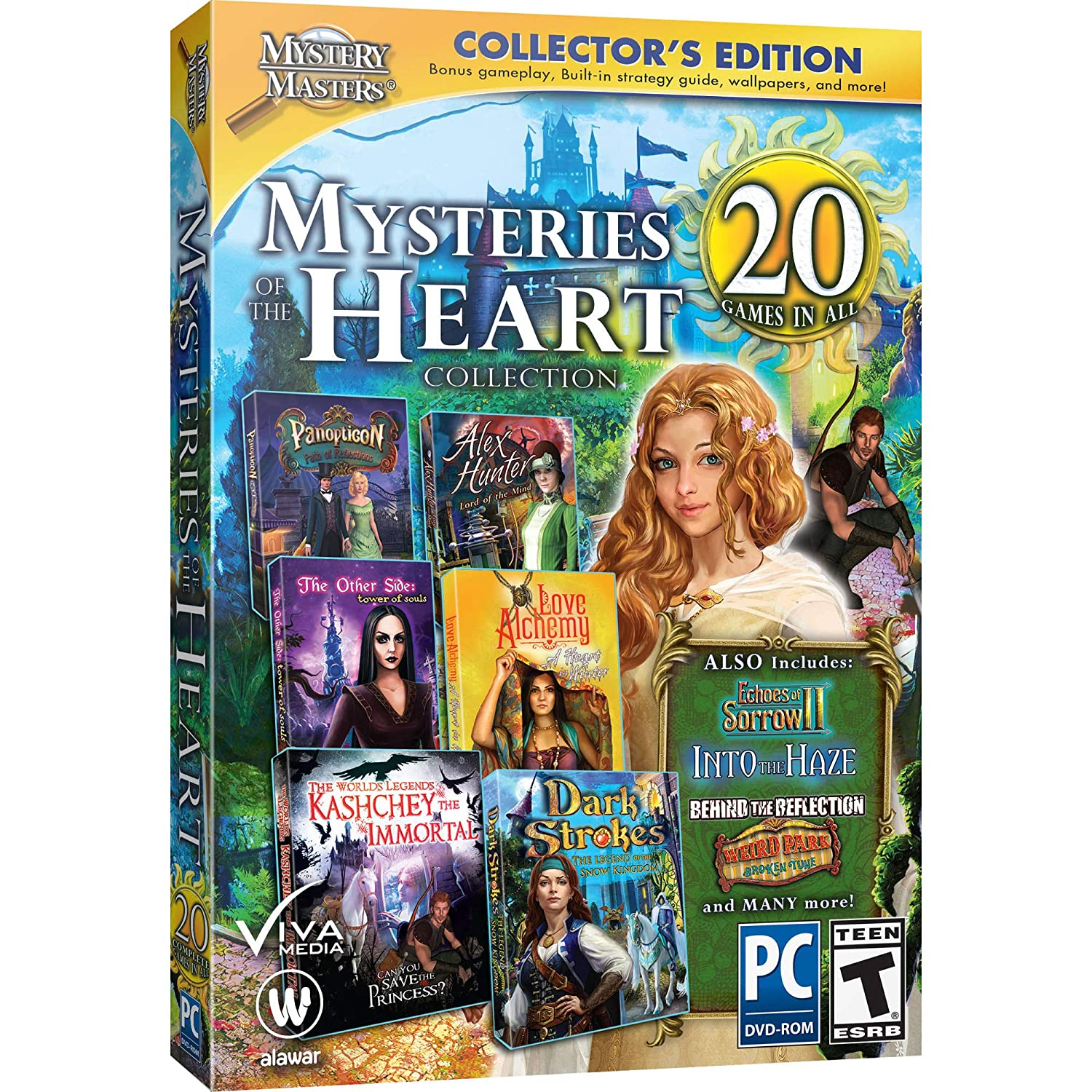 Mystery Masters MYSTERIES OF THE HEART COLLECTION 20 GAMES IN ALL Hidden Object PC Game