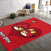 Merinos Halı Angry-Birds-BIG-HEART Makine Halısı, Renkli, 133 cm x 190 cm