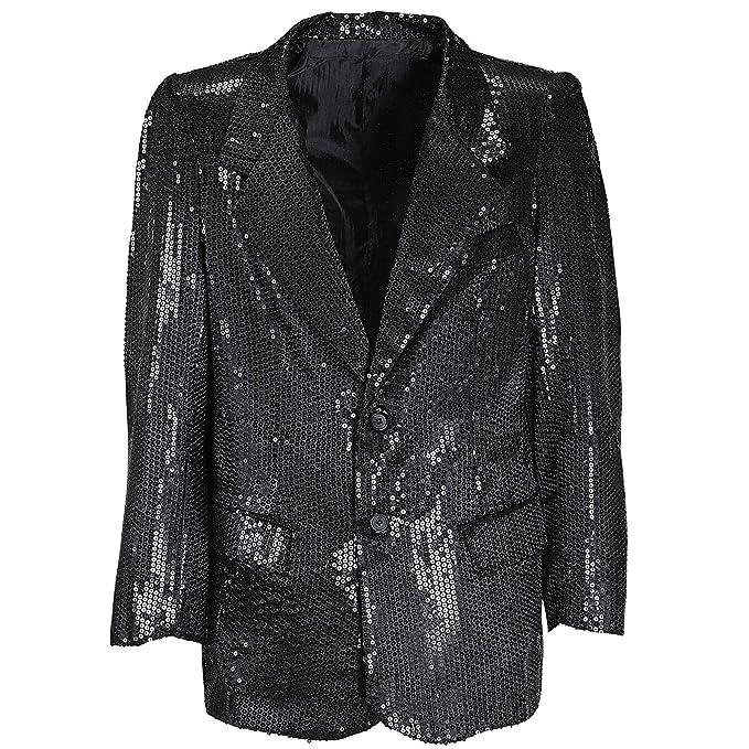 Sancto Negro chaqueta de lentejuelas disfraz para hombre: Amazon.es: Juguetes y juegos
