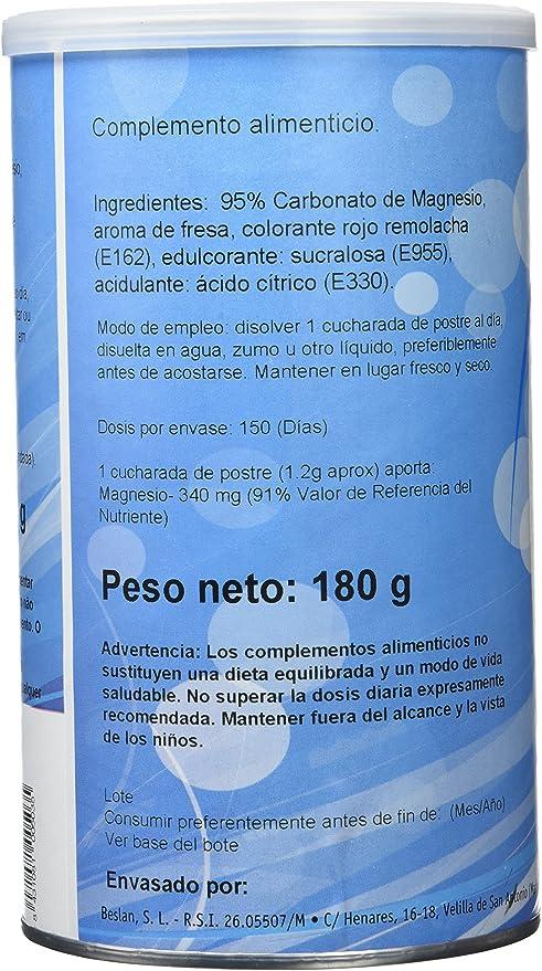 GHF - GHF Carbonato de Magnesio Bote Sabor Fresa 180 gr: Amazon.es: Salud y cuidado personal