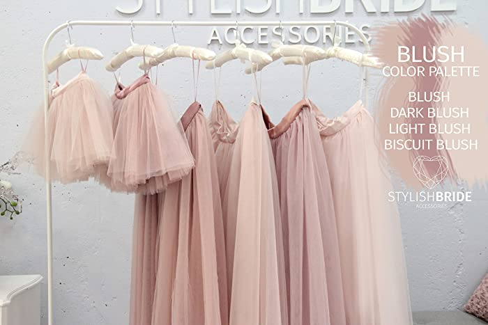 116b3dbd8541 Image Unavailable. Image not available for. Color: Waterfall Blush Palette Long  Tulle Skirt Casual Floor ...