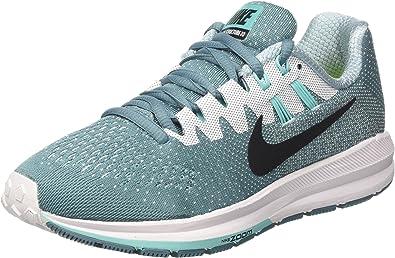 Nike Wmns Air Zoom Structure 20, Zapatos para Correr para Mujer, Turquesa (Smokey Blue/Black/White/Hyper Turq), 36 EU: Amazon.es: Zapatos y complementos