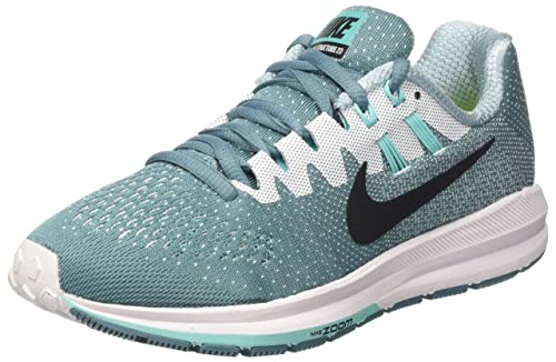 reputable site 364e1 8b151 Nike Wmns Air Zoom Structure 20, Zapatos para Correr para Mujer, Turquesa  (Smokey Blue Black White Hyper Turq), 36 EU  Amazon.es  Zapatos y  complementos