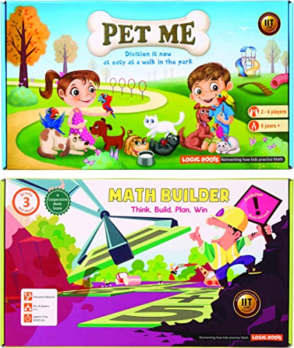 Amazon.com: Logic Roots 2 STEM Math Games For Kids Of 2nd Grade And Up -  Multiplication & Division Game And Equations Building Game For Boys And  Girls Of 8, 9, 10 Years