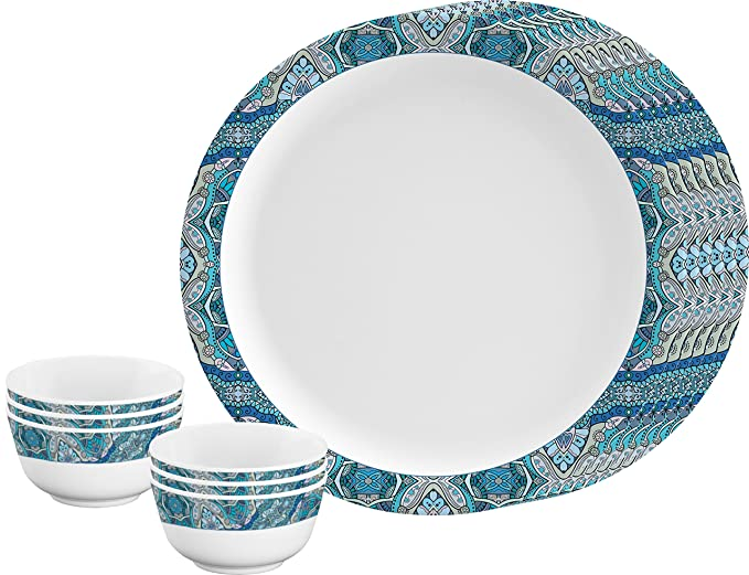 Servewell Round Blue Ribbon Dinner Set 12 Pieces