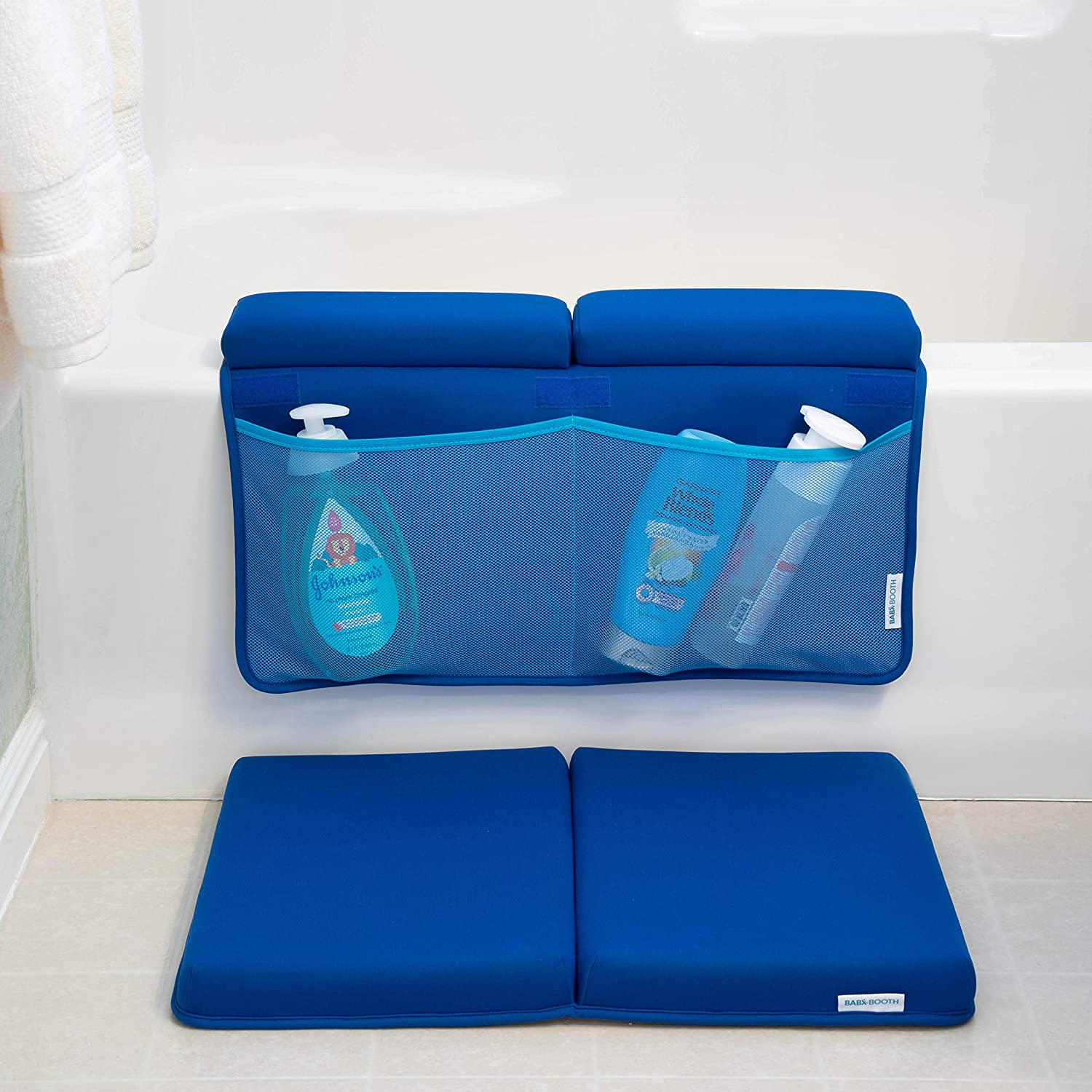 Bath Kneeler and Elbow Rest Plush Padding and Comfort for Moms Dads