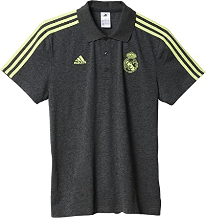 adidas Real Madrid CF 3S Polo - Camiseta, Color Gris/Verde, Talla ...