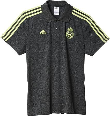 adidas Real Madrid CF 3S Polo - Camiseta, Color Gris/Verde, Talla ...