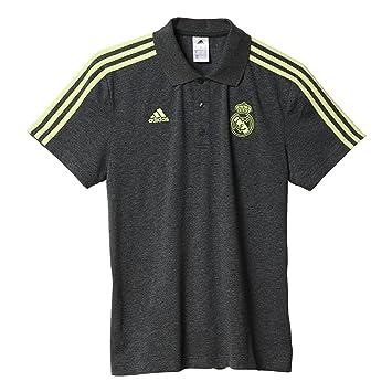Adidas 3S Camisetas Polo Real Madrid Club de Futbol, Hombre, Gris/Verde-(BRGROS/SEAMSO), 3XL: Amazon.es: Deportes y aire libre
