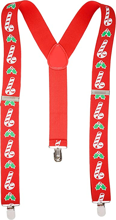 Christmas Red Santa Braces 35mm Novelty Fancy Dress Xmas Gift Office Party