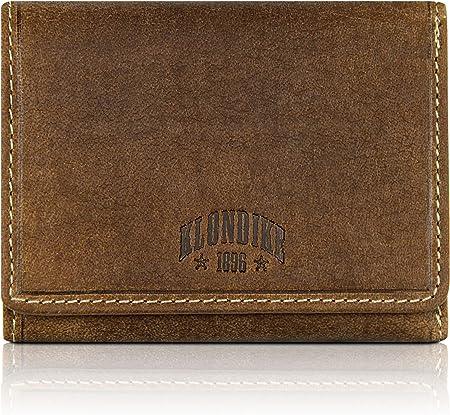 Klondike 1896 Cartera de Piel auténtica Jane para Mujeres, Cartera de Piel, marrón
