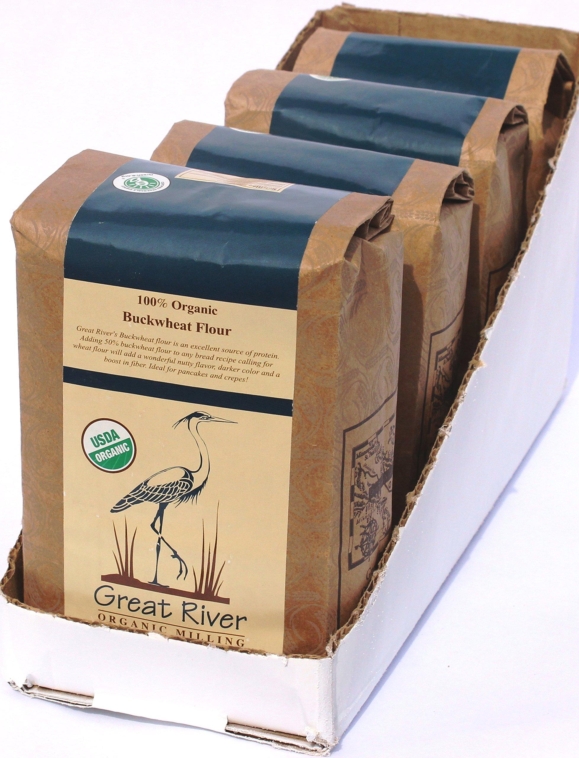 Great River Organic Milling Organic Buckwheat Flour, 2 Pound