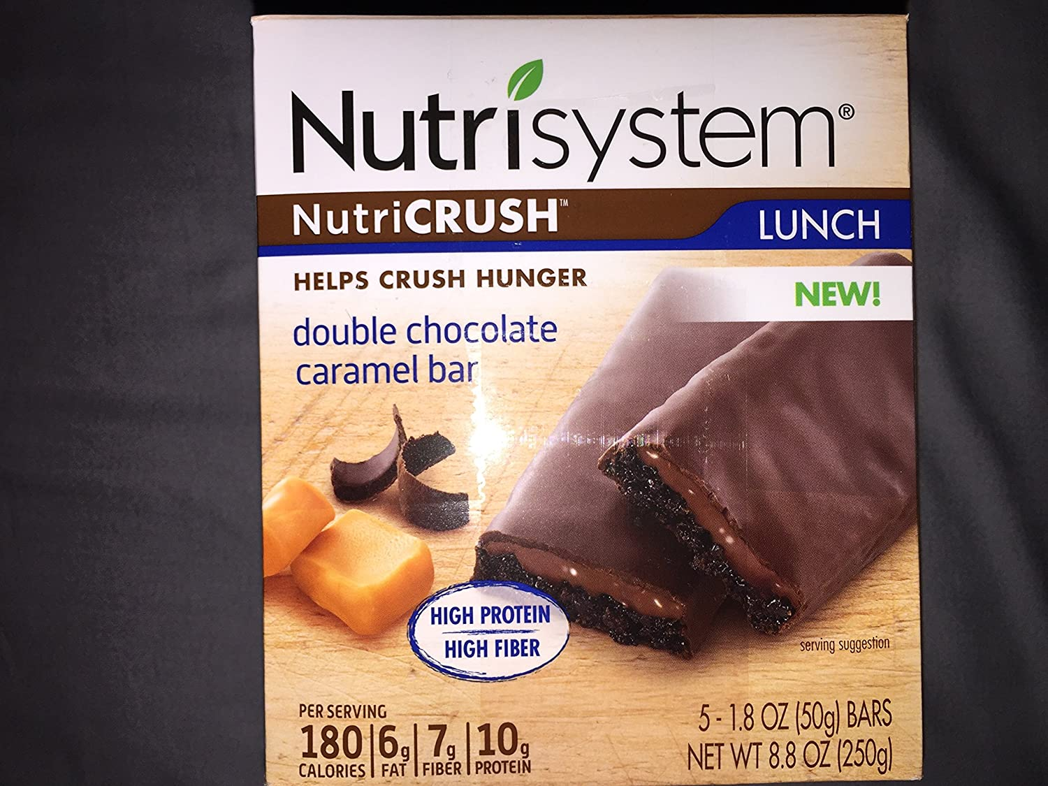 Nutrisystem Double Chocolate Caramel Bars 1 Box (5 Bars)