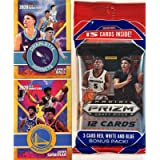 2020-21 Panini PRIZM Draft Picks Basketball JUMBO FAT CELLO Pack with 15 Cards including (3) EXCLUSIVE Red, White & Blue…