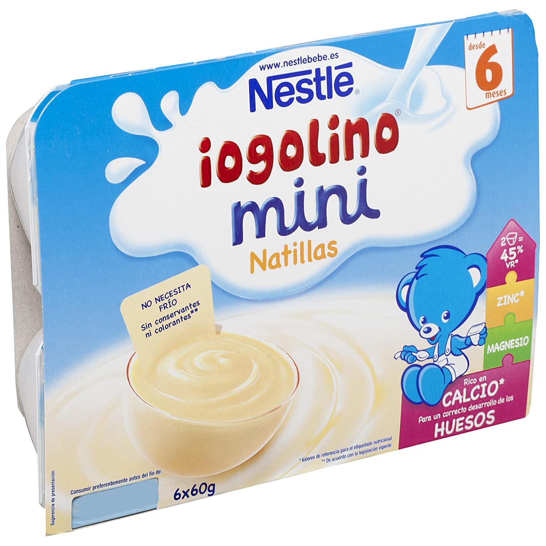 Nestlé Yogolino Postre lácteo Mini Natillas - Para bebés a partir de 6 meses - Paquete de 8x6 tarrinas de postre lácteo de 60g: Amazon.es: Alimentación y ...