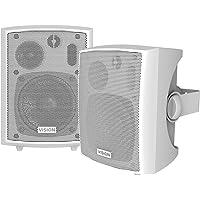 Vision SP-800P 24W Blanco altavoz - Altavoces (De 3 vías, Alámbrico, RCA / 3.5mm, 24 W, 100-16000 Hz, Blanco)