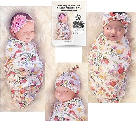 Organic Swaddle Set Newborn Leggings Newborn Hat /& Headband Newborn Girl Take Home Set Organic Swaddle Blanket Organic Baby Clothes.