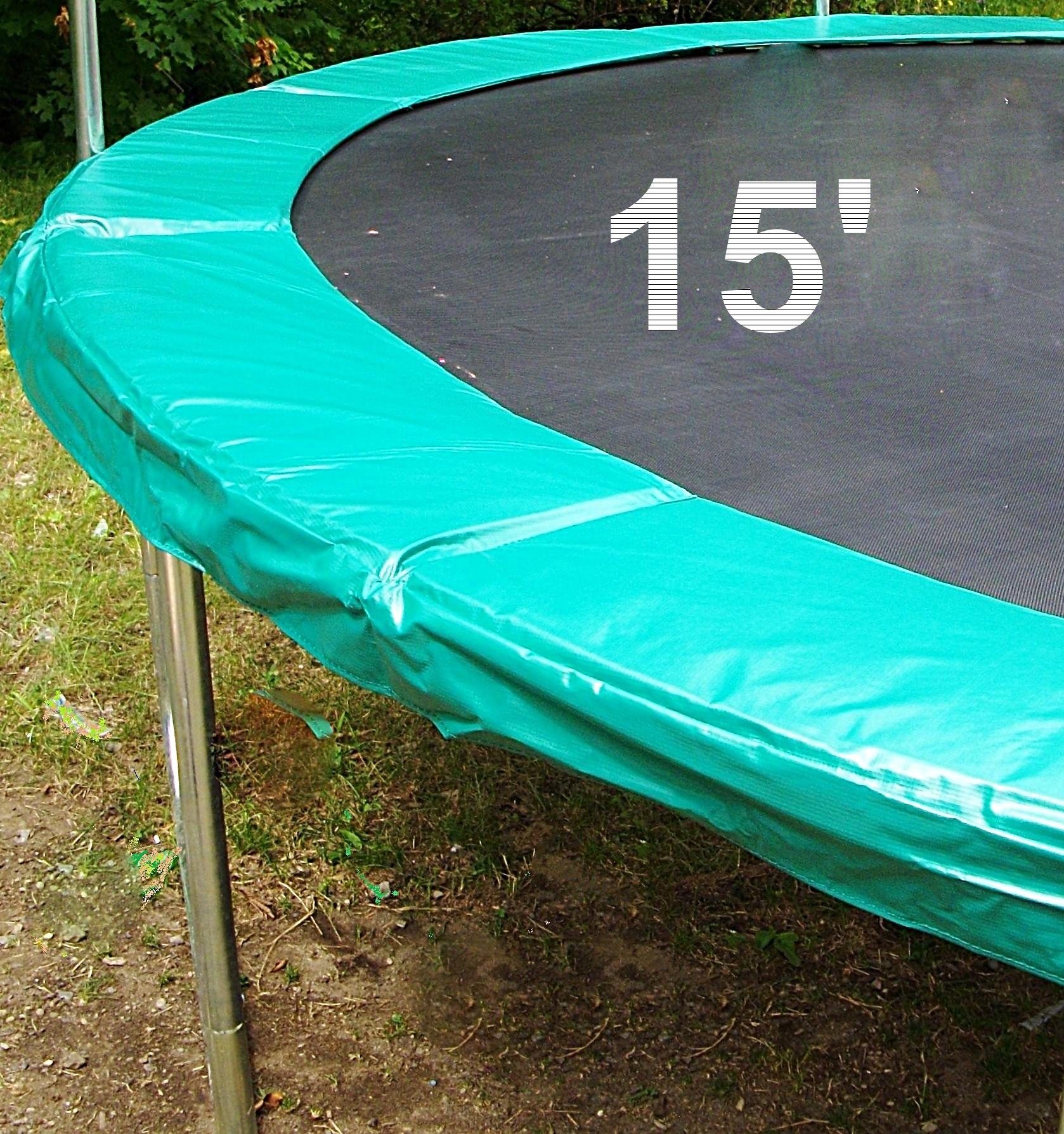 15' Trampoline Green Safety Pad to Cover Thr TrampolineUpper Bounce