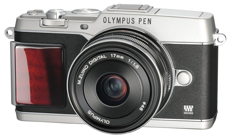 OLYMPUS ミラーレス一眼 PEN E-P5 17mm F1.8 レンズキット(ビューファインダー VF-4セット) シルバー プレミアムモデル E-P5 17mm F1.8 LKIT SLVPR  シルバー B00CPLP26Y
