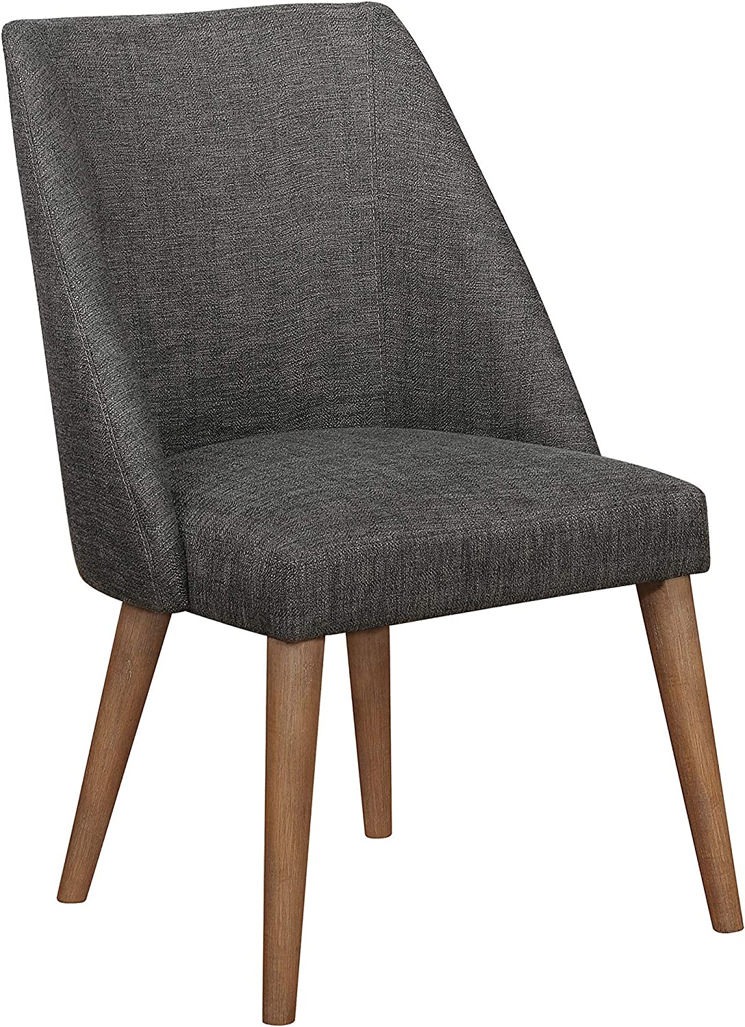 Coaster Home Furnishings Beverly Upholstered Grey and Dark Cocoa (Set of 2) Side Chair