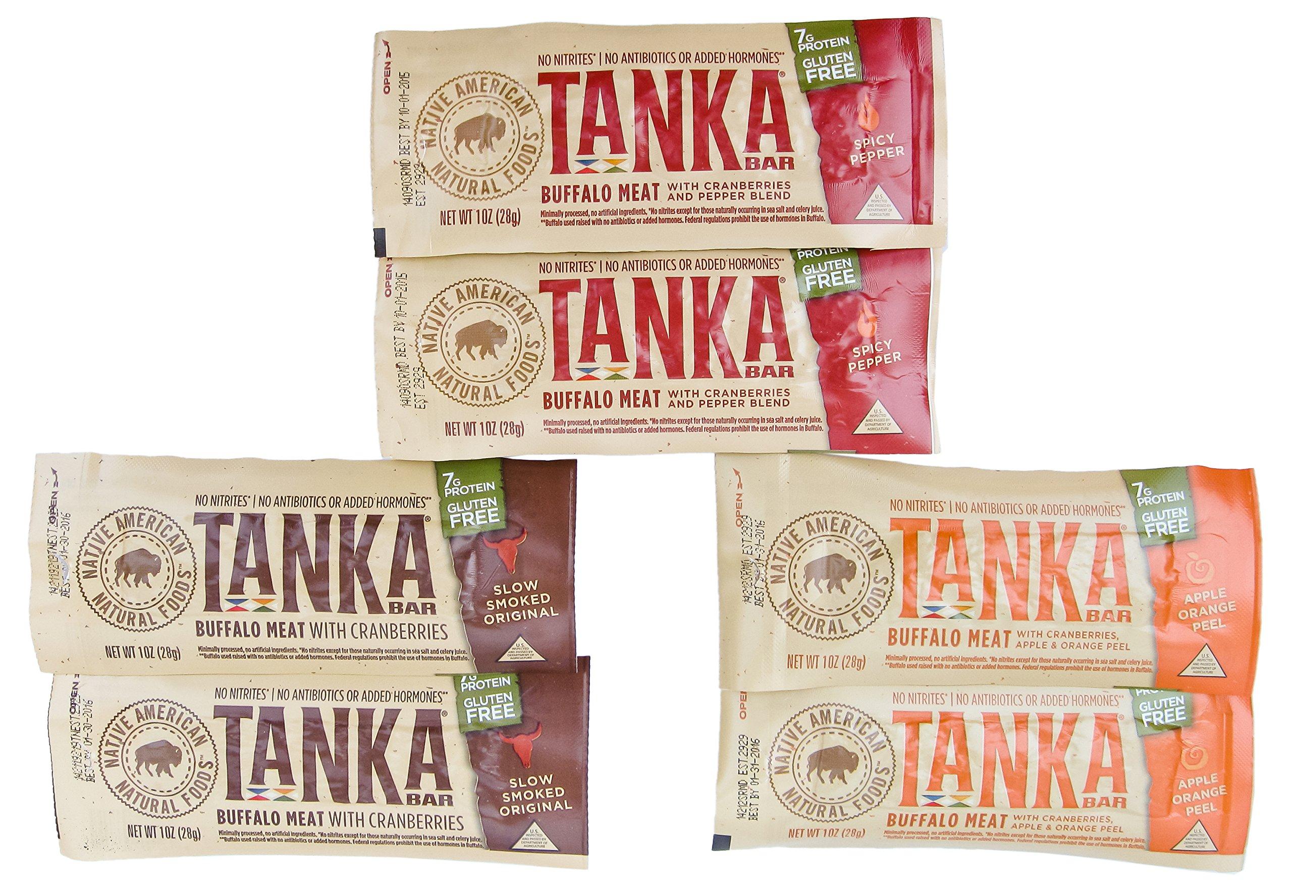 Tanka Natural Buffalo Bar Variety Pack 1 oz Pack of 6