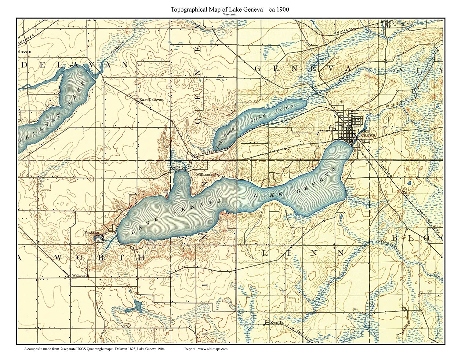 Amazon.com: Lake Geneva 1900 Old Topographic Map USGS Custom ... on map of uranus, map of cold mountain, map of jfk, map of luna, map of the great war, map of brazil, map of greed, map of italy, map of police, map of iran, map of new york, new york, map of barbara, map of 49th parallel, map of life is beautiful, map of wolf, map of gettysburg, map of apocalypse now, map of network, map of zulu,