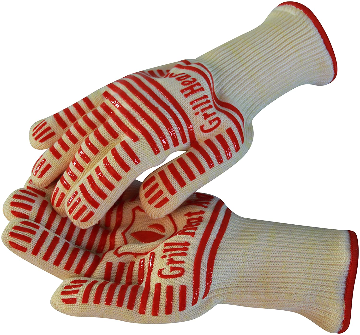 Extreme 932°F Heat Resistant - Light-Weight, Flexible BBQ Gloves - 100% Cotton Lining For Super Comfort