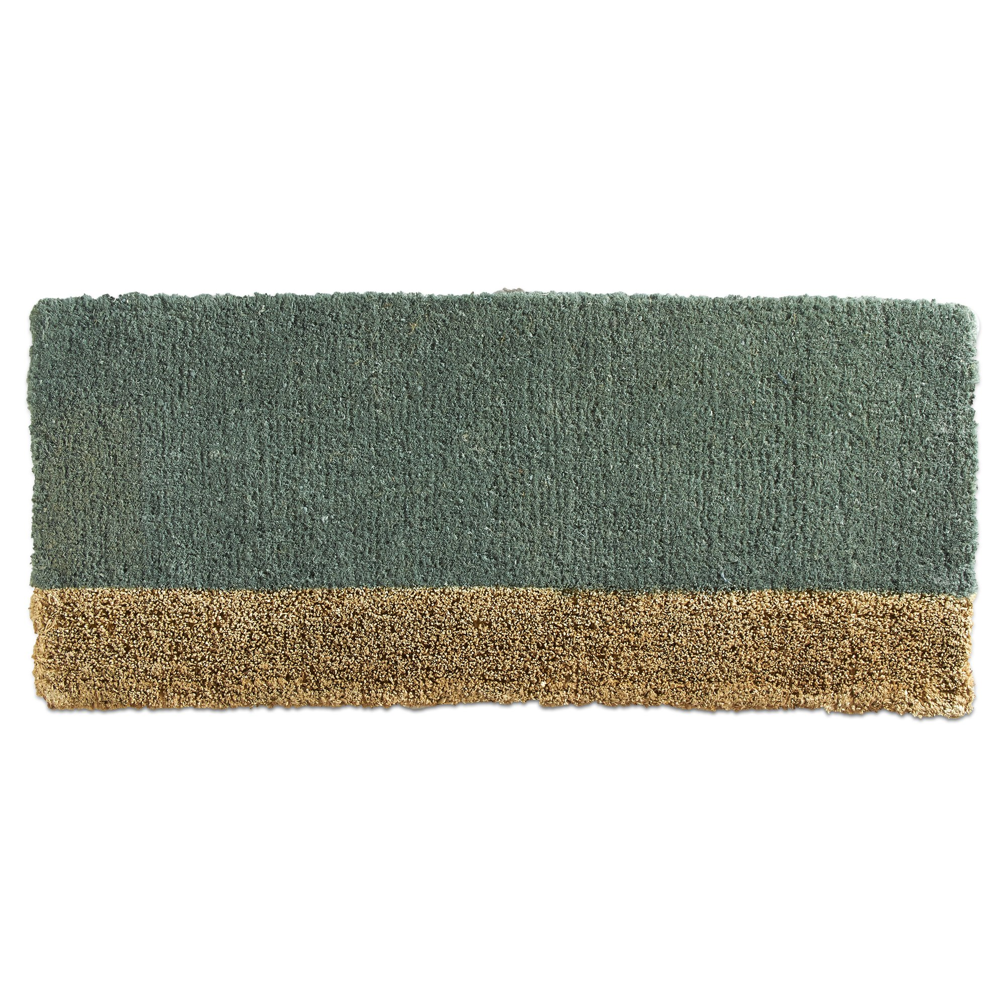 Tag -Two-Tone Estate Coir Mat, Decorative All-Season Mat for the Front Porch, Patio or Entryway, Dark Gray