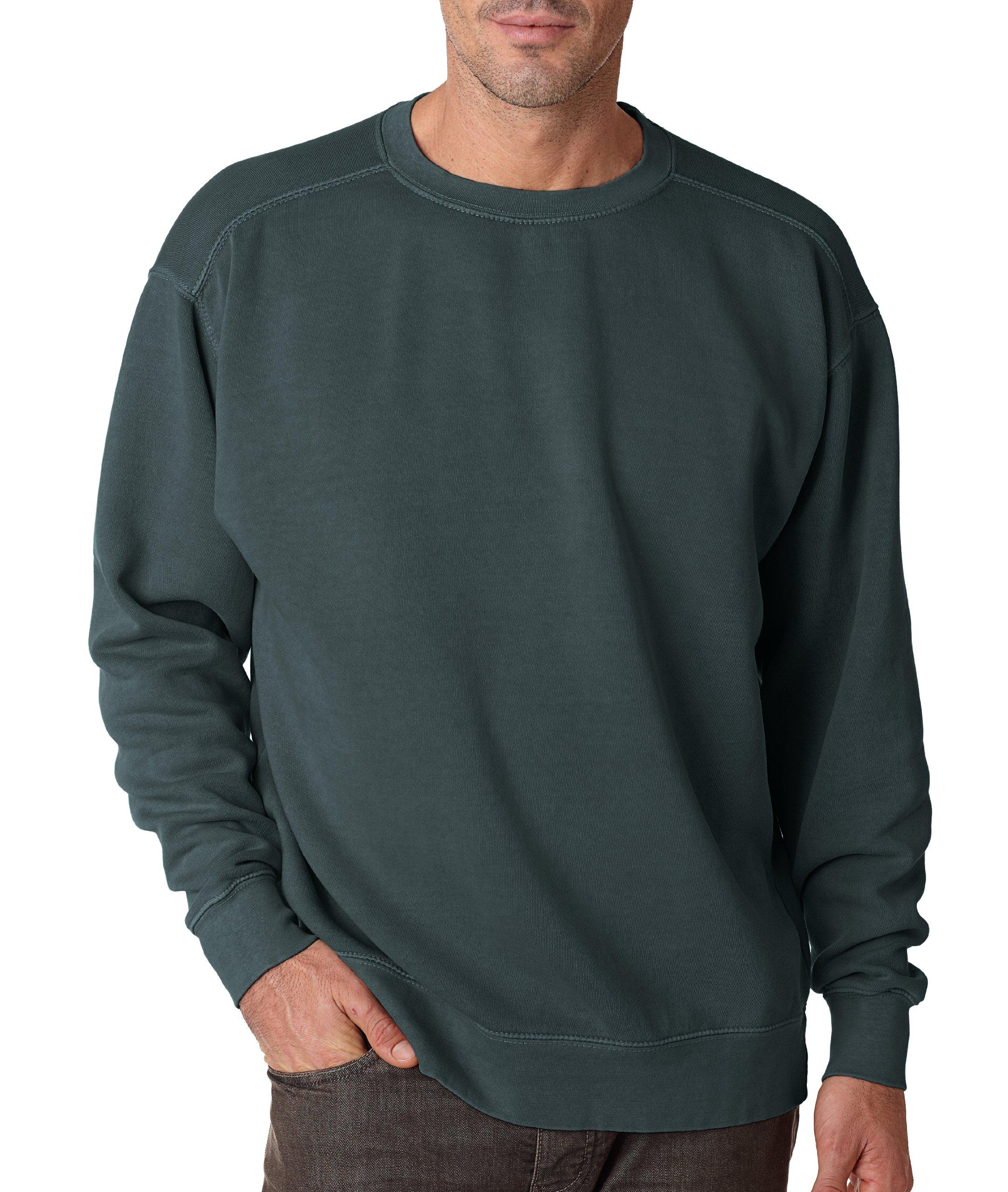 Adult Crew-Neck Blended Sweatshirt (Blue Spruce PgmDye) (Medium)