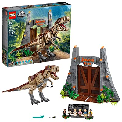 LEGO Jurassic World Jurassic Park: T. rex Rampage 75936 Building Kit, New 2020 (3120 Pieces): Toys & Games
