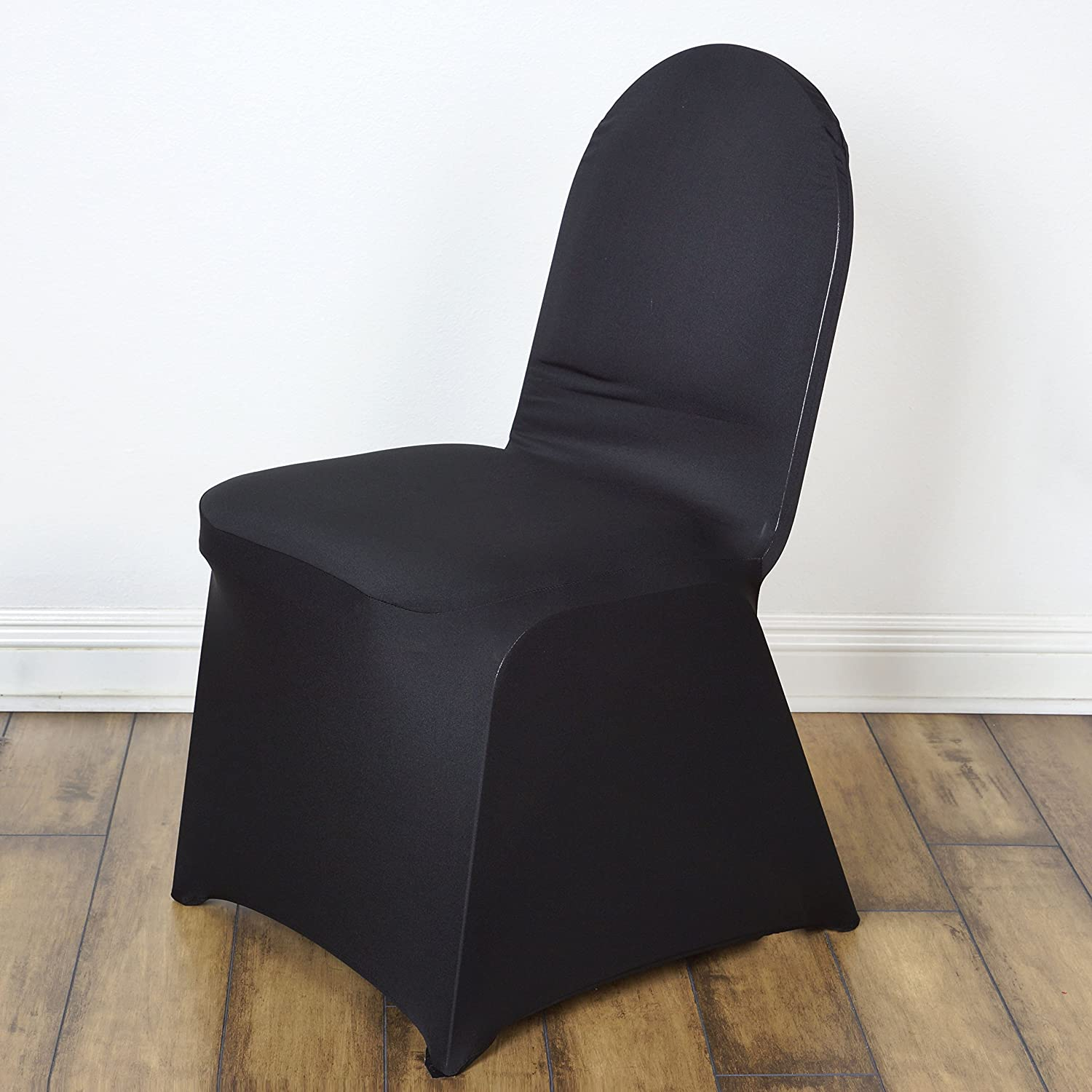 Amazon.com: BalsaCircle 10 Pcs Black Spandex Strechable Banquet Chair  Covers Slipcovers For Wedding Party Reception Decorations: Home U0026 Kitchen