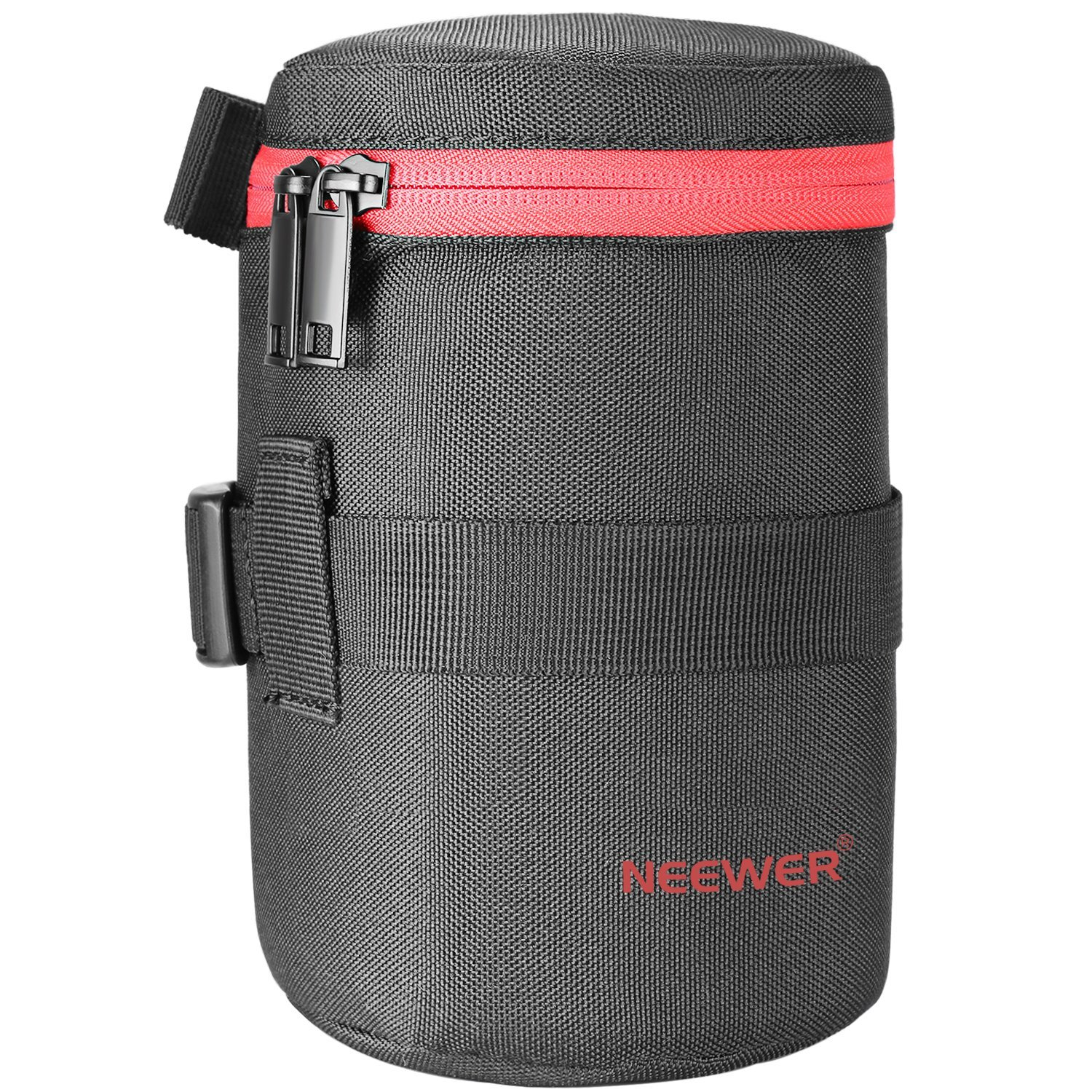 Neewer NW-L2040-R Portable Thick Padded Protective Water Resistant Durable Nylon Lens Pouch Bag for 18-300MM Lens, Such as Canon 100MM 70-300lS 75-300 and Nikon 55-300 28-300 105VR 70-300 by Neewer