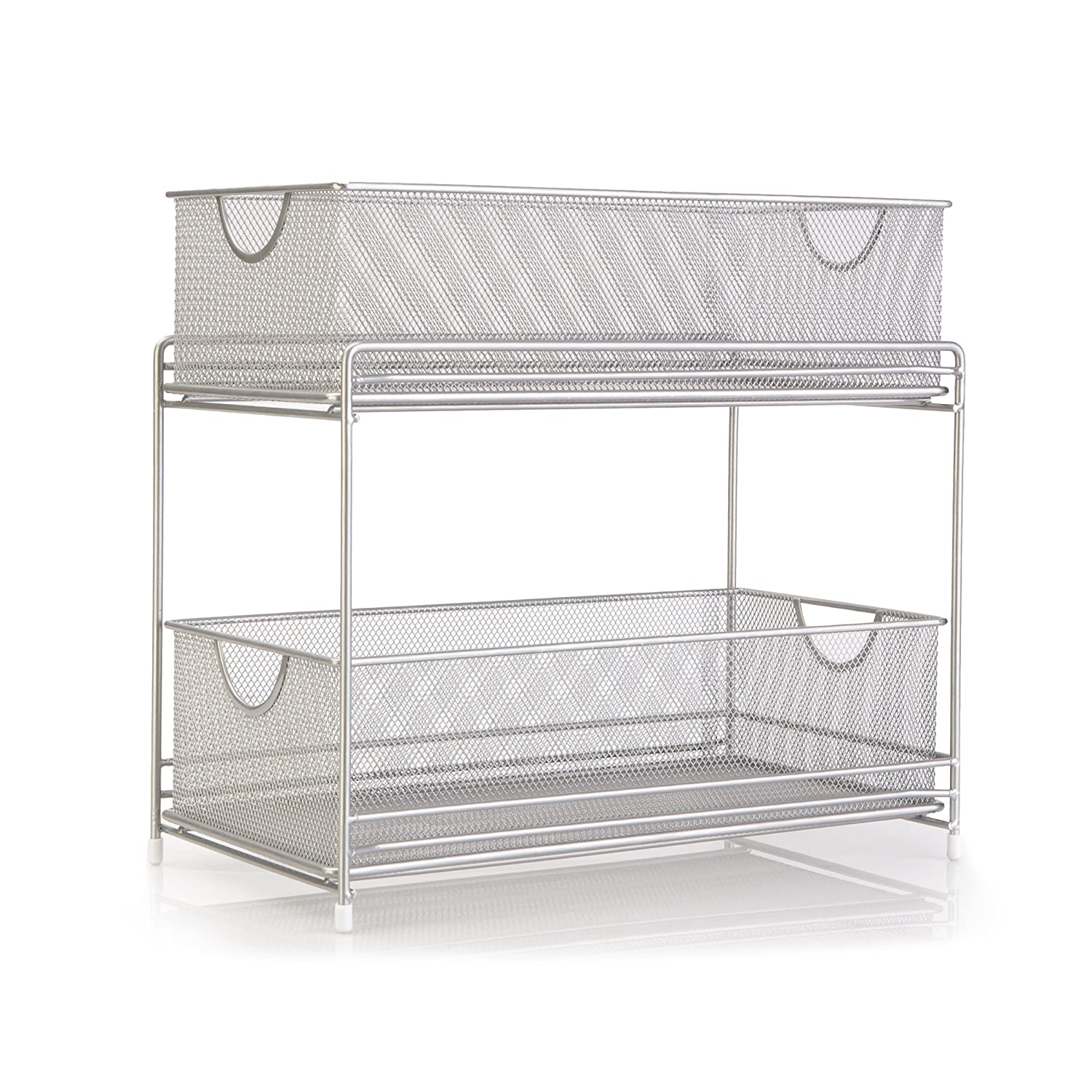 Amazon.com: Grayline 40624 2-Tier Satin Nickel Mesh Organizer ...