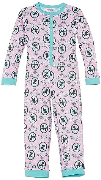 Mini ZZZ W14208 - Pijama de una pieza para niña, color rosa, talla 2