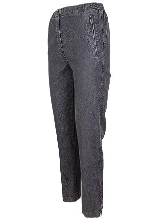 besondere Auswahl an Genieße den reduzierten Preis kostenloser Versand SOUNON® Damen Schlupfjeans Jeanshose Denim Hose Stretchjeans – 6 Farben,  Größe 19 bis 28