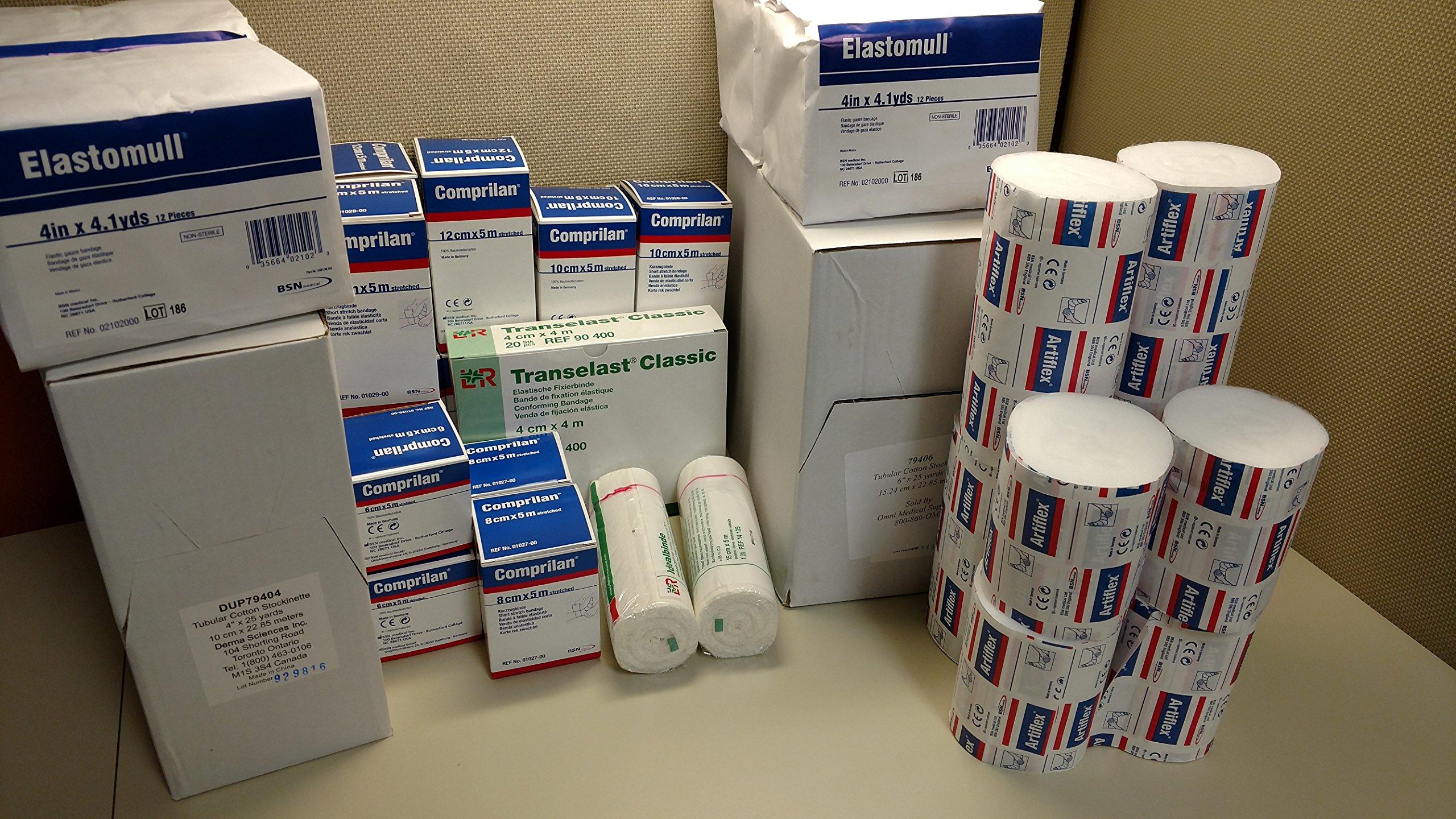 Lymphedema Compression Wrap Kit, Single Leg Bandage Kit by MedicalSupplyMI