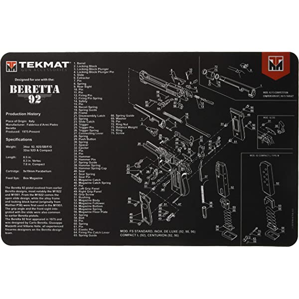 Amazon Com Tekmat Cleaning Mat For Use With Beretta Px4 Storm Hunting Cleaning And Maintenance Products Sports Outdoors