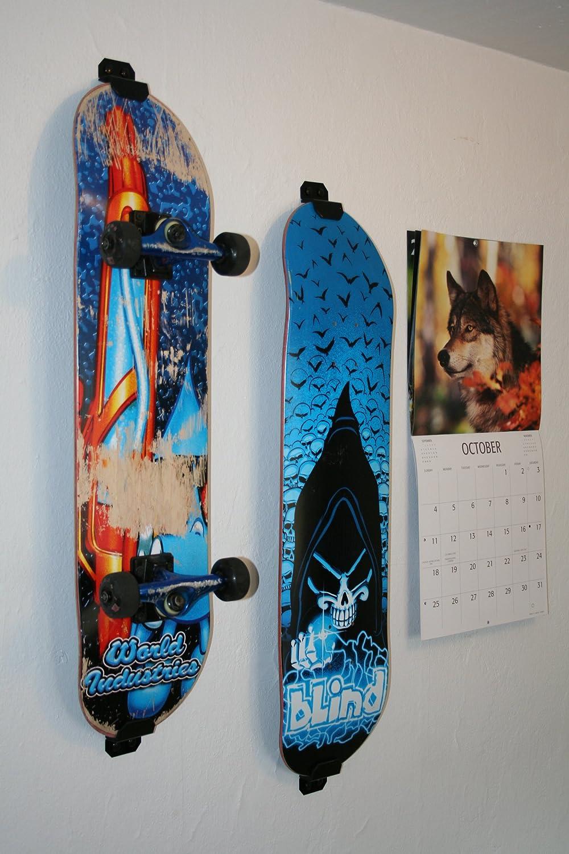 Amazon.com : Skateboard Wall Mount, Display Rack Hanger (Burton White) :  Caster Board Skateboards : Sports & Outdoors