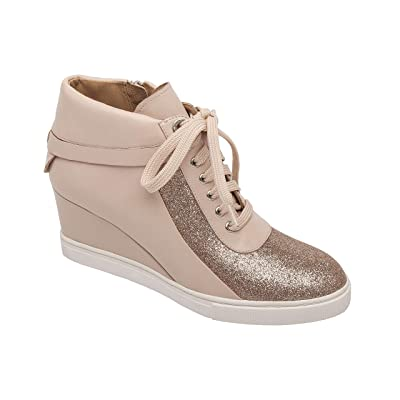 Linea Paolo - Freja - Women's Lace-up Comfortable Leather Platform Wedge Sneaker | Fashion Sneakers