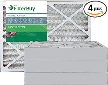 Nordic Pure 22x36x2 MERV 13 Pleated AC Furnace Air Filters 4 Pack