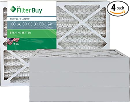 2 Pack Day and Night 20x20x5 Merv 13 Replacement AC Furnace Air Filter