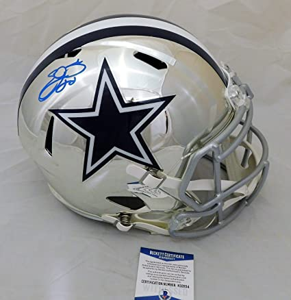 326d862d5 Image Unavailable. Image not available for. Color  Emmitt Smith Signed  Autographed Dallas Cowboys Full Size CHROME Speed ...