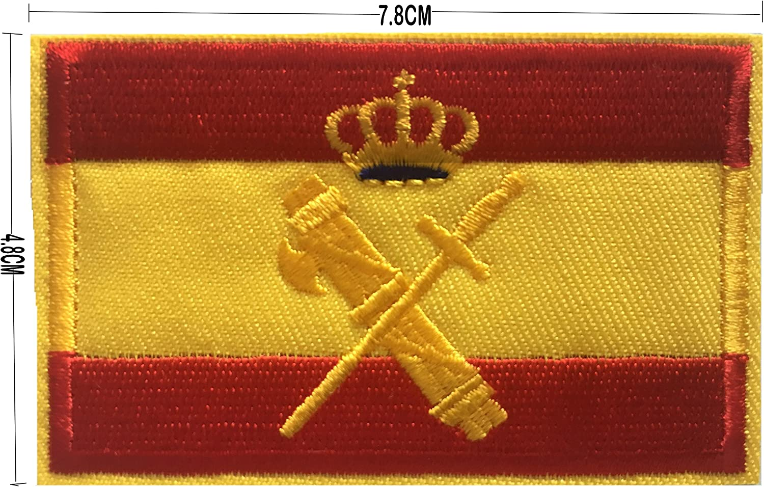 BANDERA DEL PARCHE BORDADO PARA PLANCHAR O COSER (Guardia Civil 7.8cm): Amazon.es: Hogar