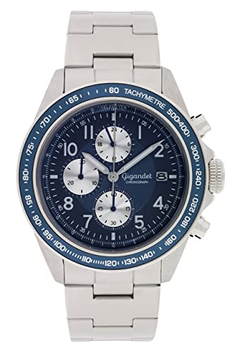 56889fdb520b Gigandet Racetrack Men s Analogue Wrist Watch Quartz Chronograph Silver Blue  G24-004  Amazon.co.uk  Watches