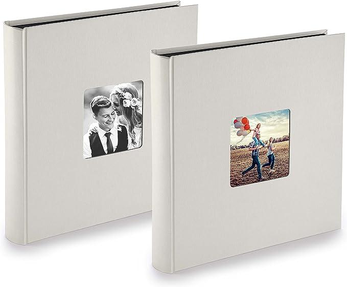 Fotoalbum schwarz 28x31 klassisch 100 schwarze Seiten Familienalbum