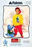 """PATONS CHILDRENS DINOSAUR SWEATER & TOY KNITTING PATTERN 20 - 26"""" IN DK"""