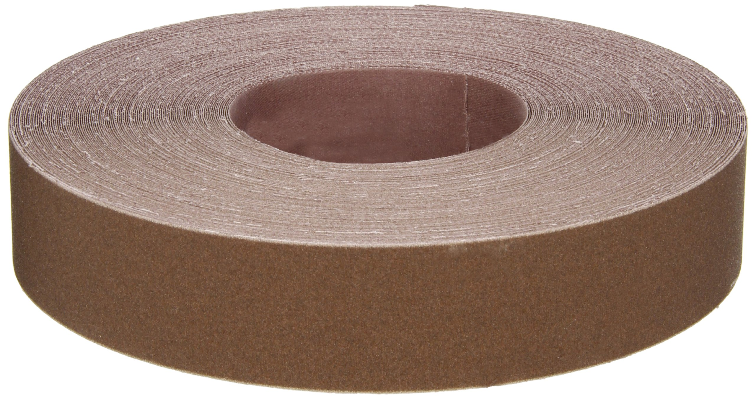 Norton K225 Metalite Abrasive Roll, Cloth Backing, Aluminum Oxide, 1-1/2'' Width x 50yd Length, Grit P180 (Pack of 5)