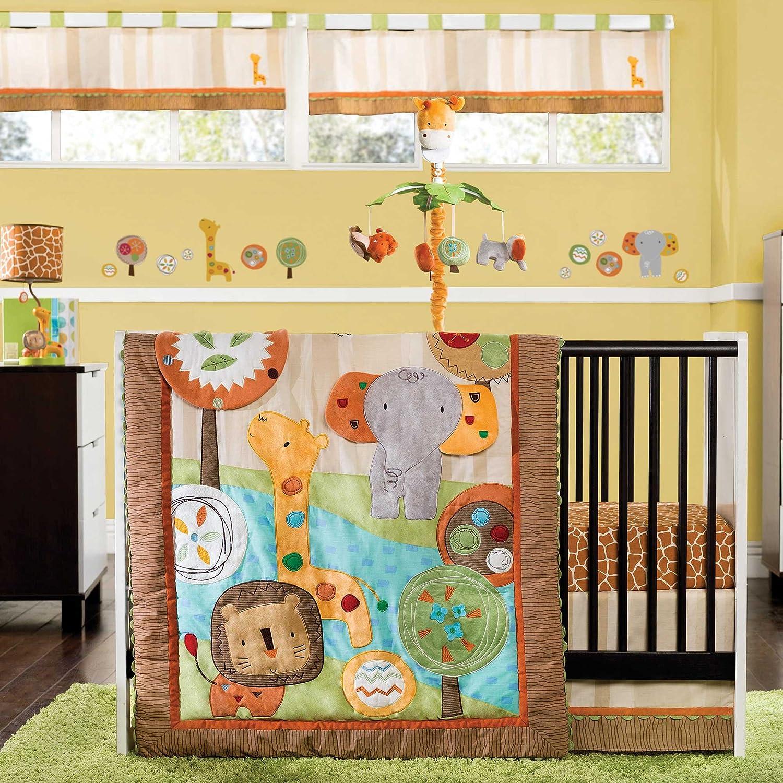 Amazon Kids Line 4 Piece Crib Bedding Set Safari Dream